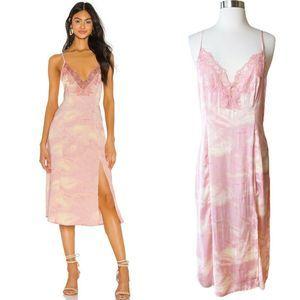 NWT✨ FP Chasing Shadows Tie Dye  Slip Dress Pink S